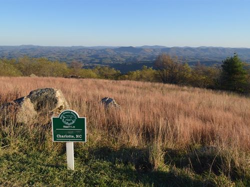 Tract Long Range South Facing Views : Independence : Grayson County : Virginia