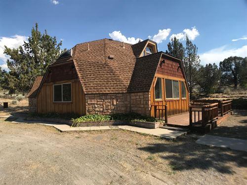 Geodesic Dome Home Acreage Big : Montague : Siskiyou County : California