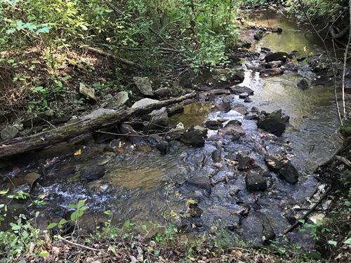 Property Overlooking Rock Creek : Jasper : Pickens County : Georgia