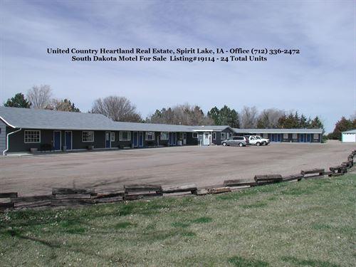 South Dakota Motel For Sale : Spirit Lake : Dickinson County : Iowa
