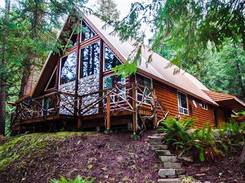Rustic Log Home Selway River : Kooskia : Idaho County : Idaho