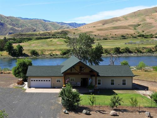 Salmon River Riverfront Homes : White Bird : Idaho County : Idaho