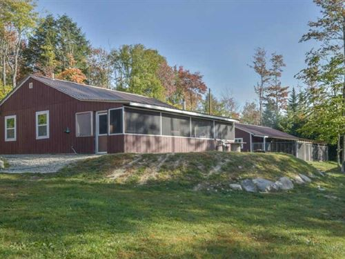 Country Home For Dog Lovers : Enfield : Penobscot County : Maine