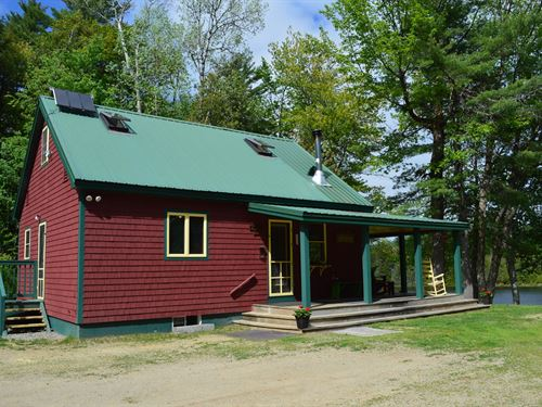 Maine Lakefront Home in Lee : Lee : Penobscot County : Maine