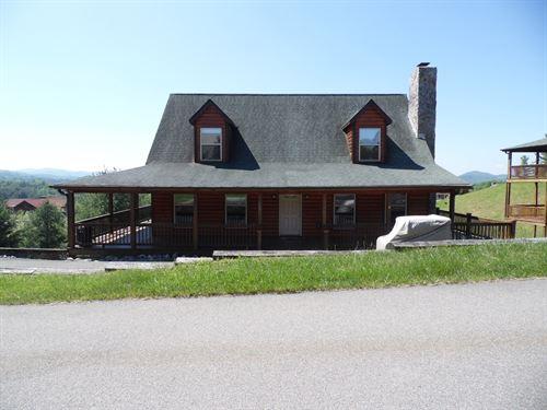 Ideal Log Home NC Mountains 50 : Piney Creek : Alleghany County : North Carolina