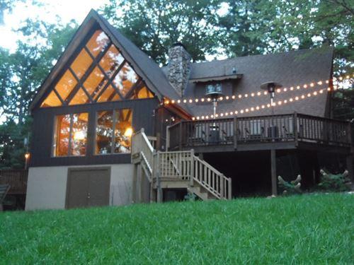 A-Frame Home Breathtaking Blue : Roaring Gap : Alleghany County : North Carolina