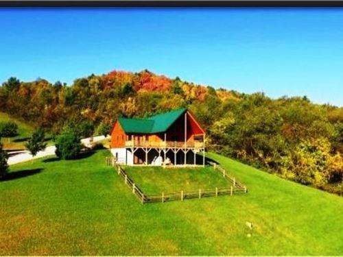 Beautiful Log Home, Twin Oaks : Sparta : Alleghany County : North Carolina
