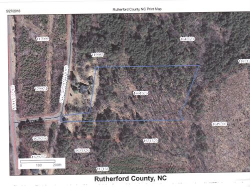Unrestricted 4.25 Level Acres : Union Mills : Rutherford County : North Carolina