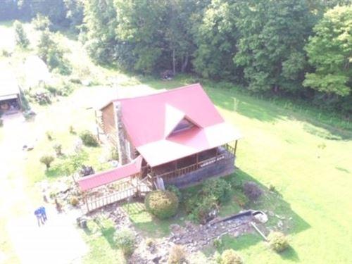 Monroe County, OH Log Cabin Home : Beallsville : Monroe County : Ohio
