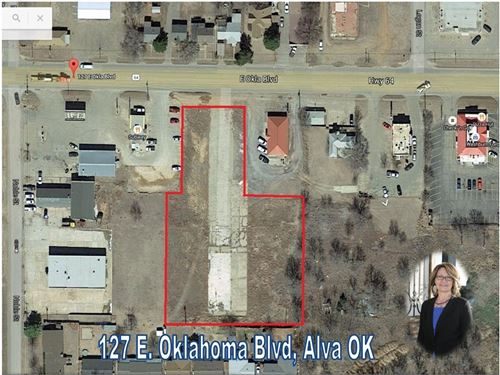 Commercial Lots Alva Oklahoma : Alva : Woods County : Oklahoma