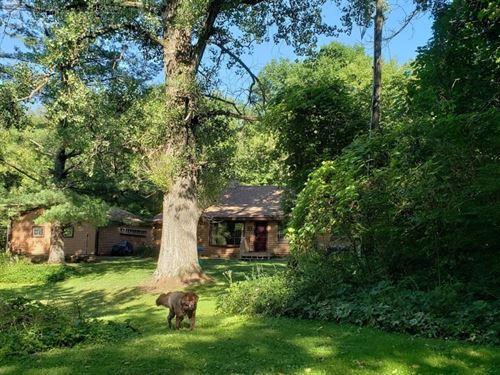 Log Home, Pond, Springs & Stream : Richland Center : Richland County : Wisconsin
