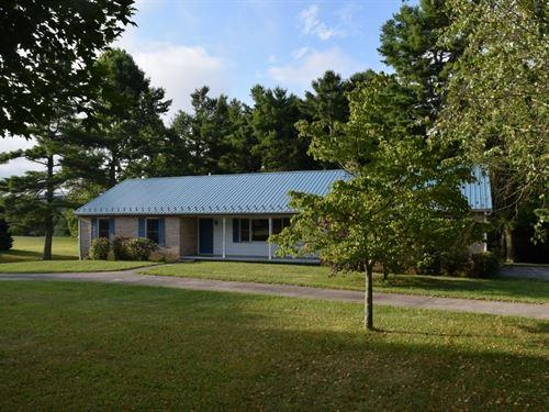 Brick Ranch Country Home, Check VA : Check : Floyd County : Virginia