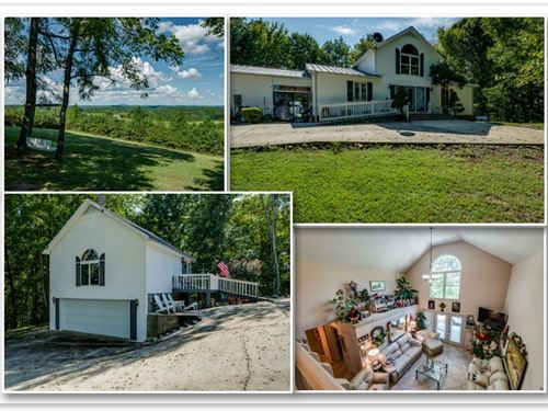 15 Ac, 2 Story Custom Hm, Mtn Views : Gainesboro : Jackson County : Tennessee