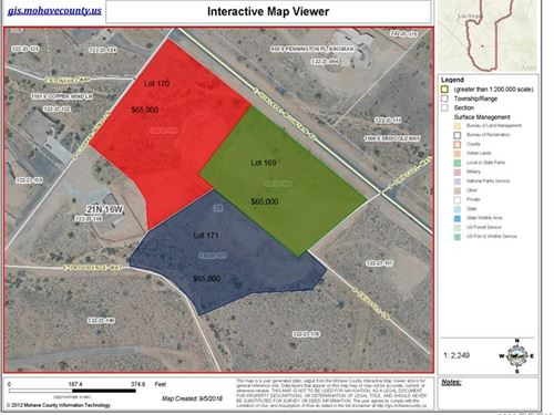 Great Custom Home Building Lot : Kingman : Mohave County : Arizona
