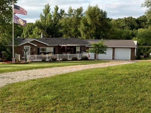 3 Bedroom, 2 Bathroom Home 7 Acres : Pickering : Nodaway County : Missouri