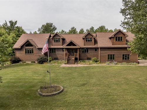 5 Bd 5 Ba Quality Built Minocqua Ho : Minocqua : Oneida County : Wisconsin