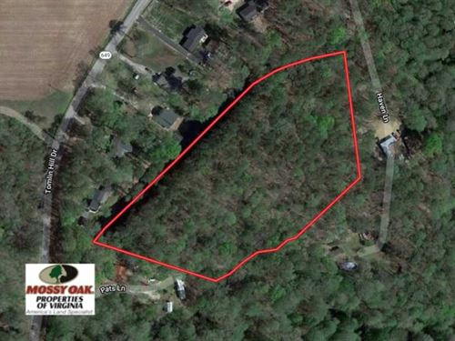 5 Acres of Waterfront Timber Land : Zuni : Isle Of Wight County : Virginia