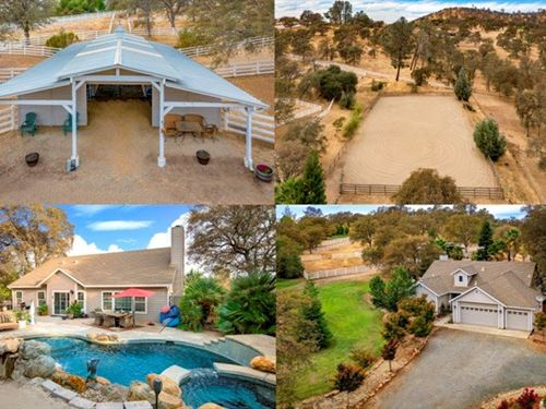 Equestrian Horse Property Located : Browns Valley : Yuba County : California