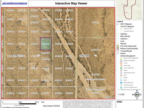 Off Grid, Nice Flate 2.35 Acres : Golden Valley : Mohave County : Arizona