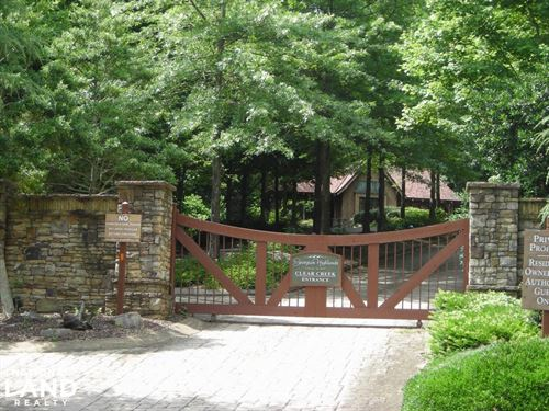 Mountain View Homesite in Gated Com : Ellijay : Gilmer County : Georgia