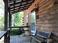 13 Acres Spring Creek Log Cabin : West Plains : Douglas County : Missouri