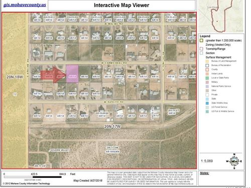 Great Location to Build Your Home : Golden Valley : Mohave County : Arizona