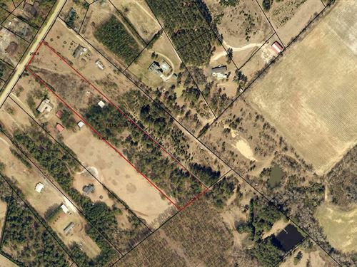 6.98 Acre Land Lot Just Outside : Sylvania : Screven County : Georgia