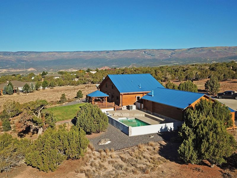 Colorado Log Home Country Acreage : Cedaredge : Delta County : Colorado