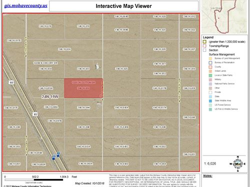 Great 5 Acres Lot In Gateway Acres : Dolan Springs : Mohave County : Arizona