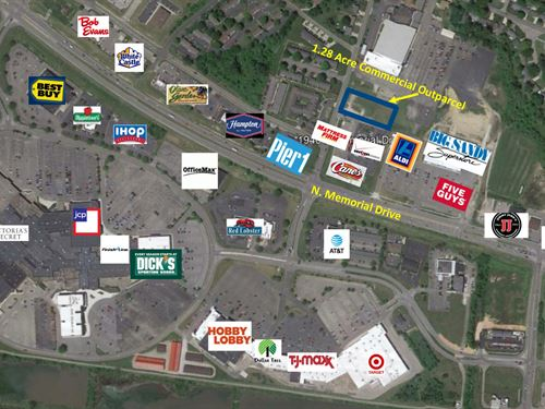 1.28+/- Acre Commercial Outparcel : Lancaster : Fairfield County : Ohio