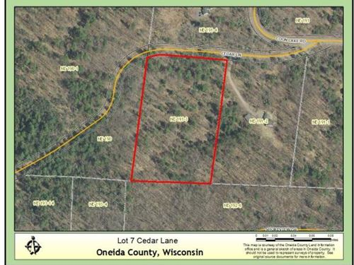 Beautiful Buildable Lot In Newbold : Newbold : Oneida County : Wisconsin
