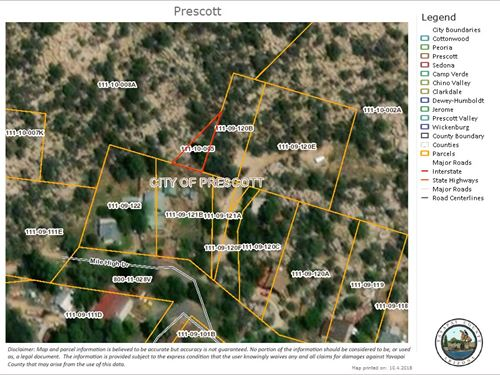 .12 Acre Mile High Drive Prescott : Prescott : Yavapai County : Arizona