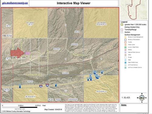 5 Acre Investment About 1 Mile : Topock : Mohave County : Arizona