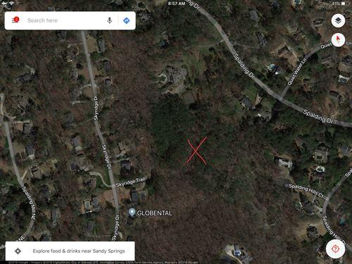11.5 Acre Estate Lot Spalding Drive : Atlanta : Fulton County : Georgia