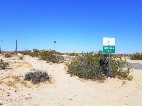 Prime 2.27 Ac, Paved/Power 29 Palms : Wonder Valley : San Bernardino County : California