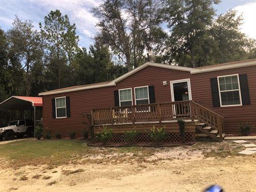 3/2 Dwmh On 4 Acres 776682 : Old Town : Dixie County : Florida