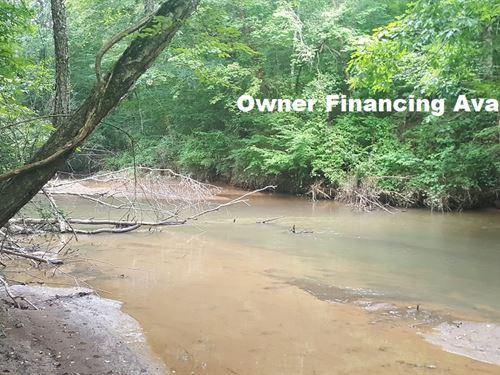 Beautiful Creek Frontage Lot : Madison : Morgan County : Georgia
