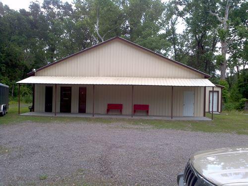 4+ Acres With Metal Bldg On Hwy 64 : Lamar : Johnson County : Arkansas