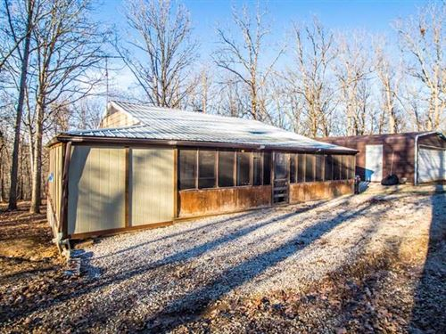 Cabin on 3 Acres For Sale in Wappa : Wappapello : Wayne County : Missouri