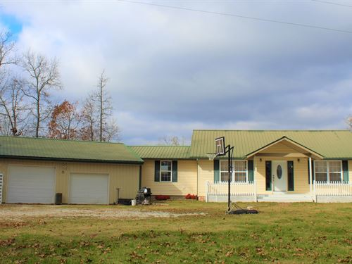 Mo Country Home, Acreage For Sale : Ava : Douglas County : Missouri