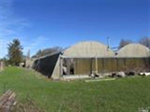 Land With Green Houses : Santa Rosa : Sonoma County : California