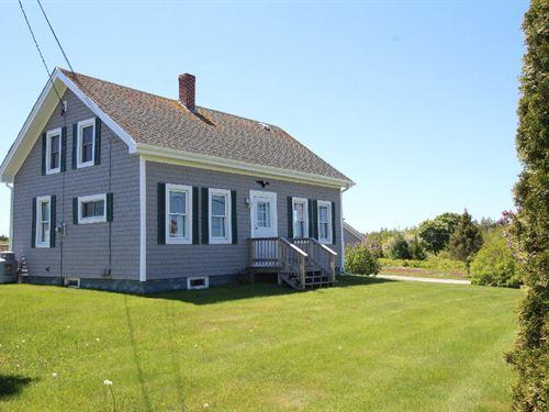 Coastal Cape in Lubec, Maine : Lubec : Washington County : Maine