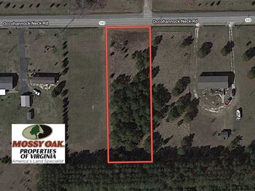 .6 Acre Residential Lot For Sale : Wardtown : Northampton County : Virginia
