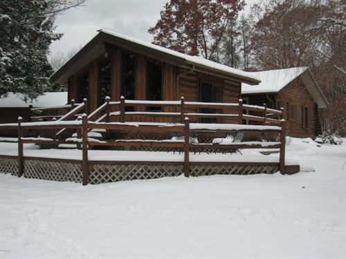 Ausable River Log Home Beauty : Free Soil : Mason County : Michigan