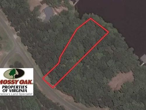 1 Acre Lake Front Lot For Sale in : Boydton : Mecklenburg County : Virginia