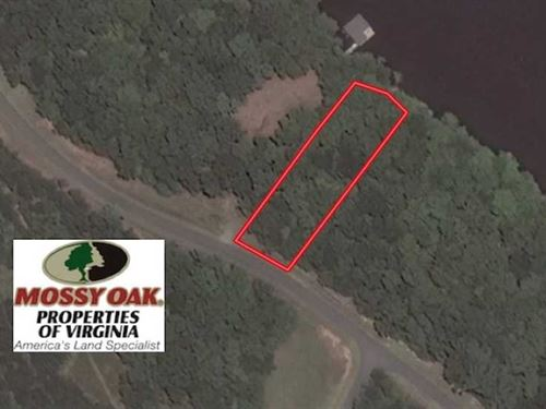 1 Acre Lake Front Lot For Sale : Boydton : Mecklenburg County : Virginia