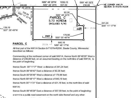 Rural Bldg Site Owatonna : Owatonna : Steele County : Minnesota
