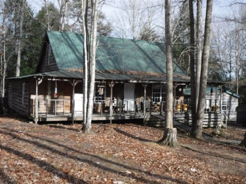 2+Ac, Rustic Cabin, Workshop, Creek : Jamestown : Fentress County : Tennessee