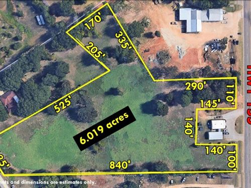 6 Acres Commercial Land On Hwy 155 : Tyler : Smith County : Texas