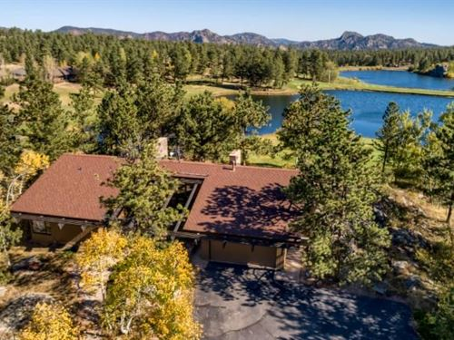 Beautiful Lakefront Home Fox Acres : Red Feather Lakes : Larimer County : Colorado